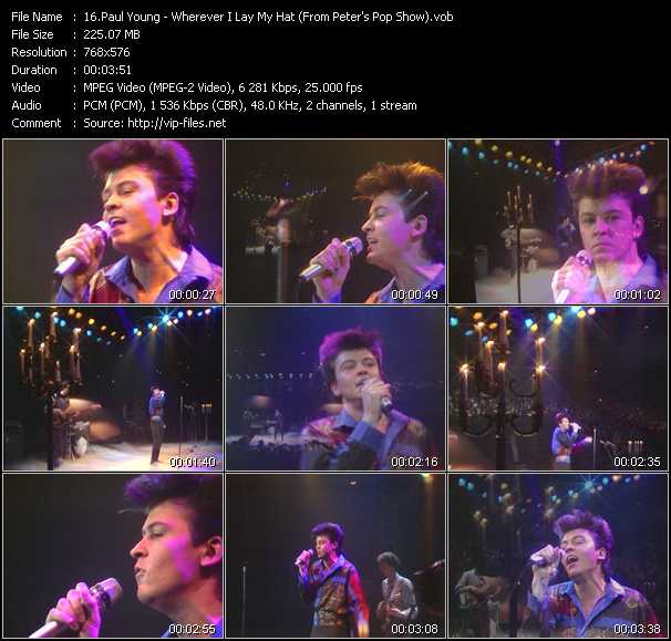 download Paul Young « Wherever I Lay My Hat (From Peter's Pop Show) » video vob