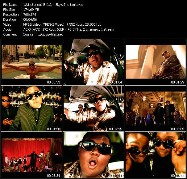 download Notorious B.I.G. « Sky's The Limit » video vob