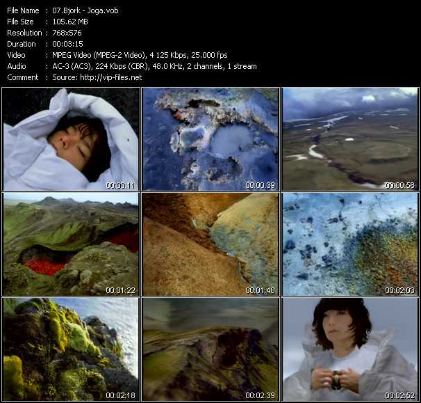 download Bjork « Joga » video vob