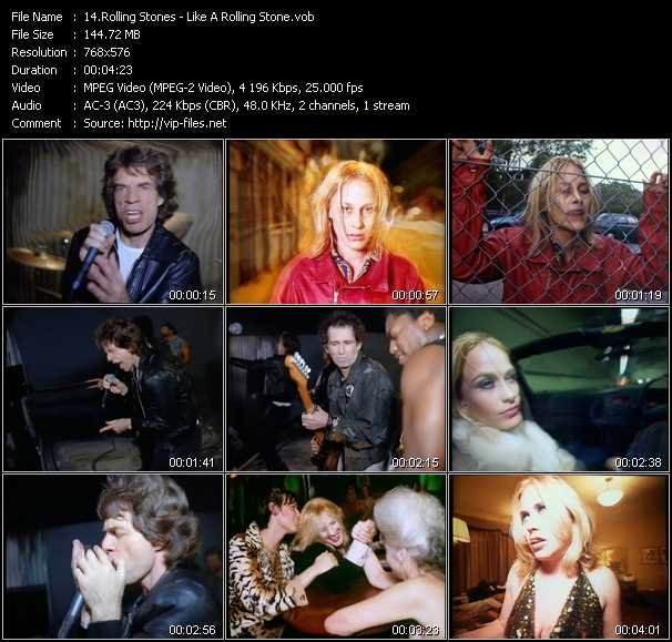 download Rolling Stones « Like A Rolling Stone » video vob