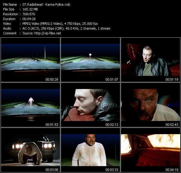 video Karma Police screen