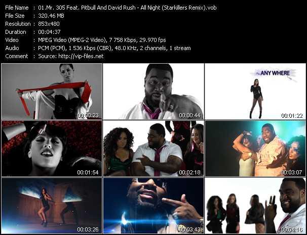 download Mr. 305 Feat. Pitbull And David Rush « All Night (Starkillers Remix) » video vob