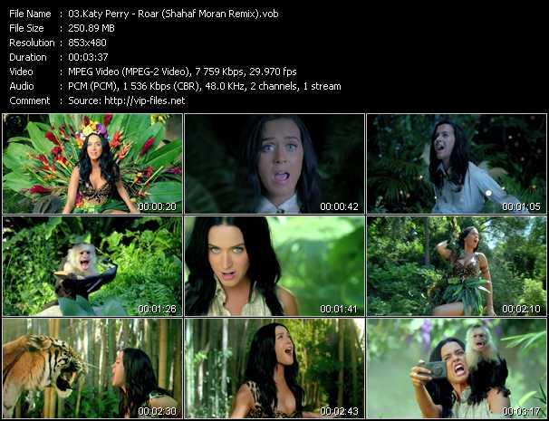 download Katy Perry « Roar (Shahaf Moran Remix) » video vob