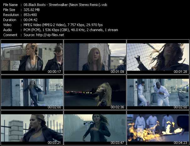 download Black Boots « Streetwalker (Neon Stereo Remix) » video vob