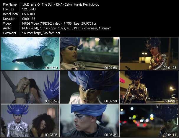 video DNA (Calvin Harris Remix) screen