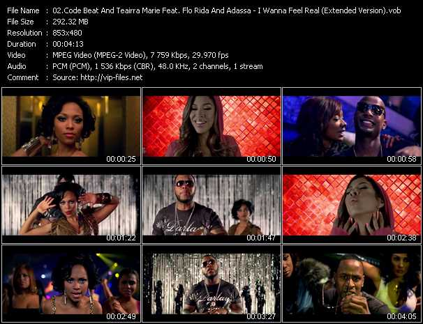 download Code Beat And Teairra Marie Feat. Flo Rida And Adassa « I Wanna Feel Real (Extended Version) » video vob