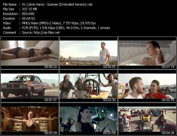 download Calvin Harris « Summer (Extended Version) » video vob