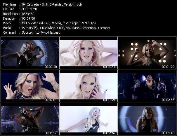 download Cascada « Blink (Extended Version) » video vob