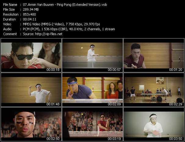 download Armin Van Buuren « Ping Pong (Extended Version) » video vob
