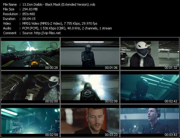 download Don Diablo « Black Mask (Extended Version) » video vob