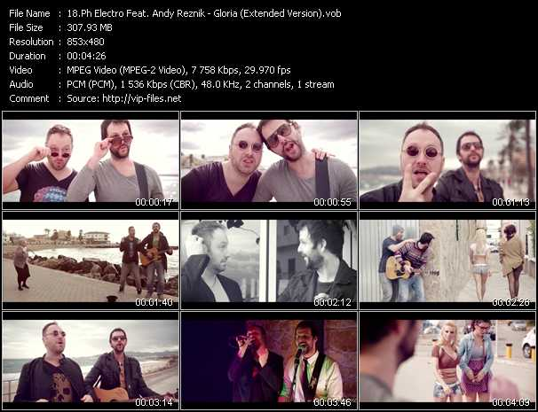 download Ph Electro Feat. Andy Reznik « Gloria (Extended Version) » video vob