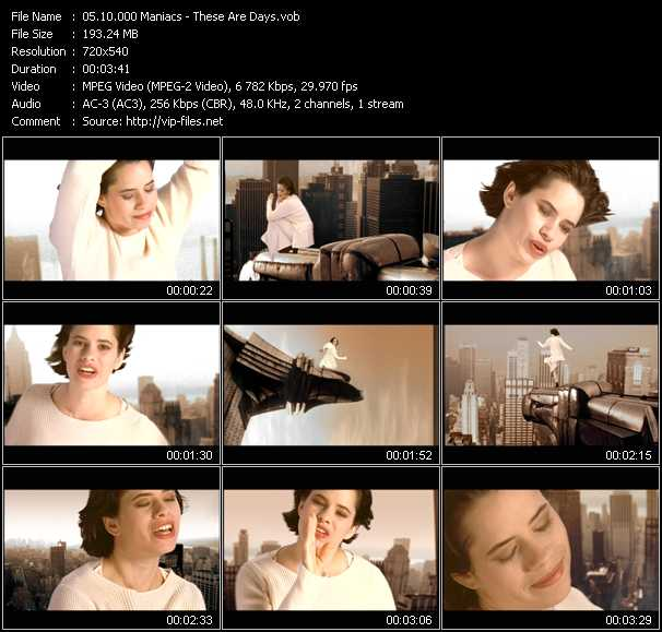 download 10.000 Maniacs « These Are Days » video vob