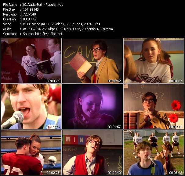 download Nada Surf « Popular » video vob