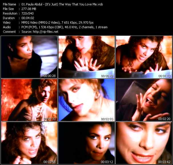 download Paula Abdul « (It's Just) The Way That You Love Me » video vob