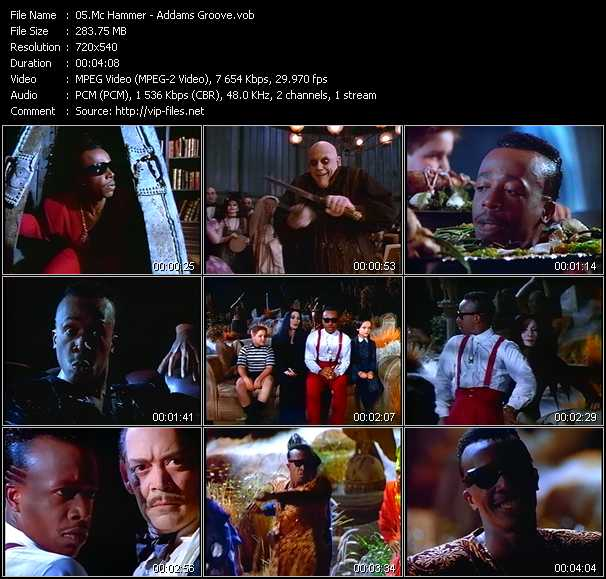 download Mc Hammer « Addams Groove » video vob