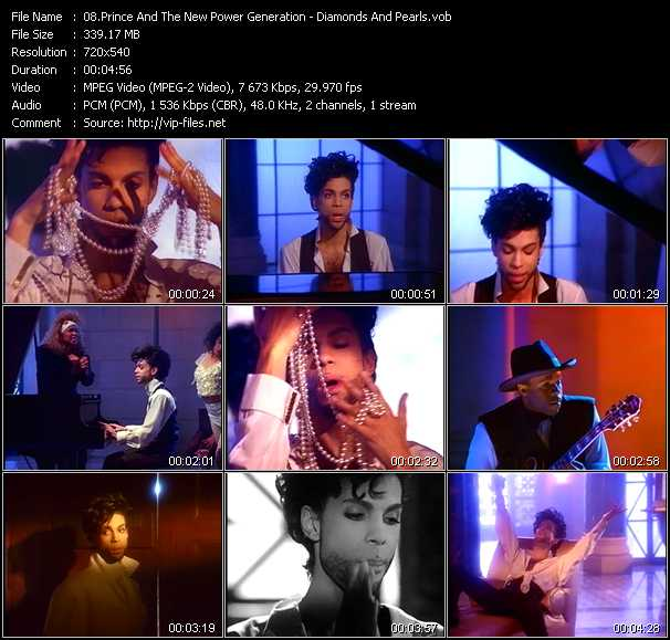 download Prince And The New Power Generation « Diamonds And Pearls » video vob