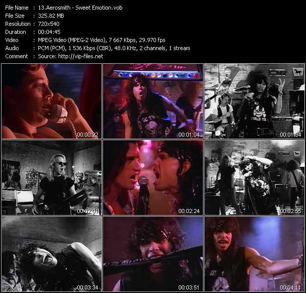 download Aerosmith « Sweet Emotion » video vob