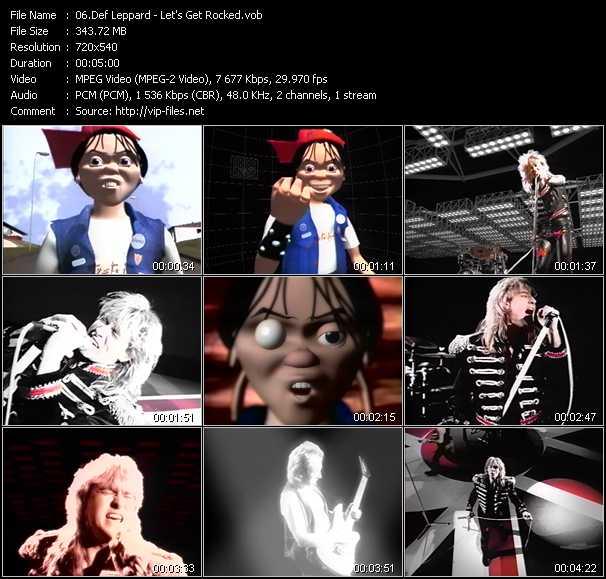 download Def Leppard « Let's Get Rocked » video vob