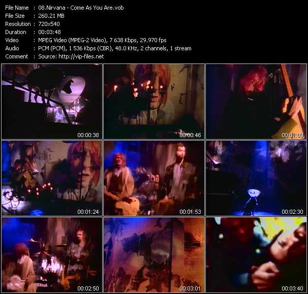 download Nirvana « Come As You Are » video vob