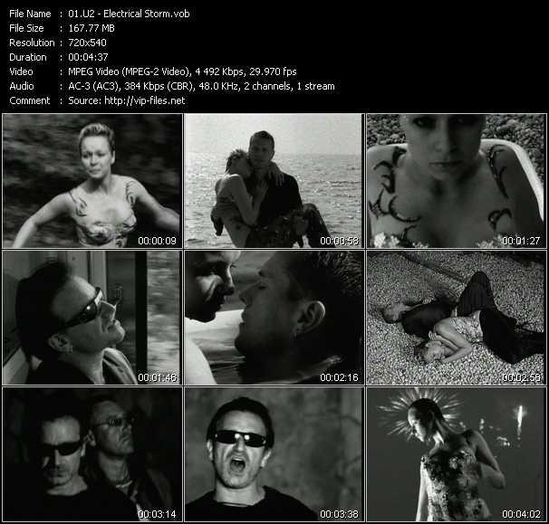 download U2 « Electrical Storm » video vob