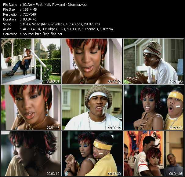 download Nelly Feat. Kelly Rowland « Dilemma » video vob