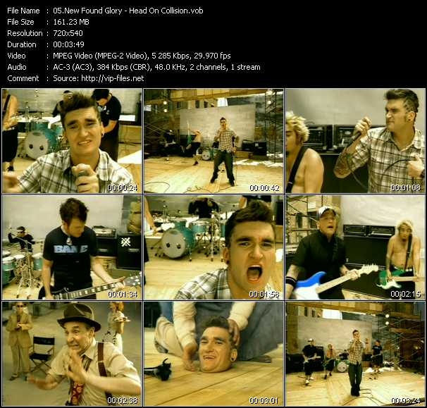download New Found Glory « Head On Collision » video vob