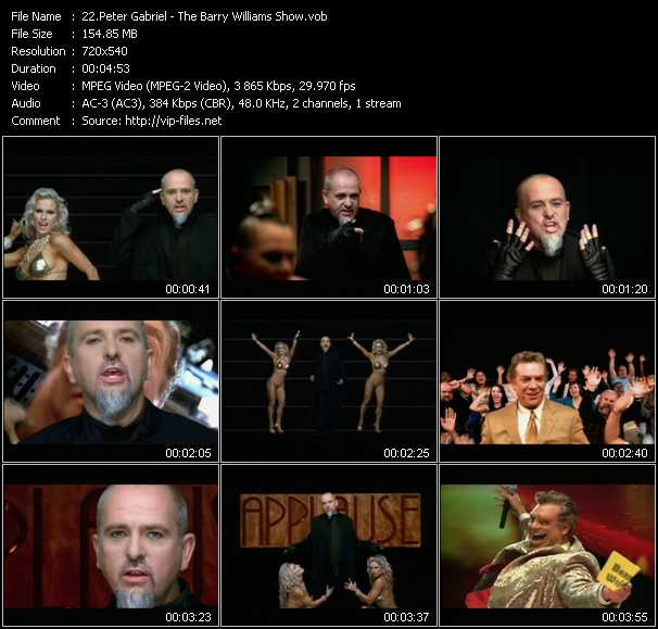 download Peter Gabriel « The Barry Williams Show » video vob