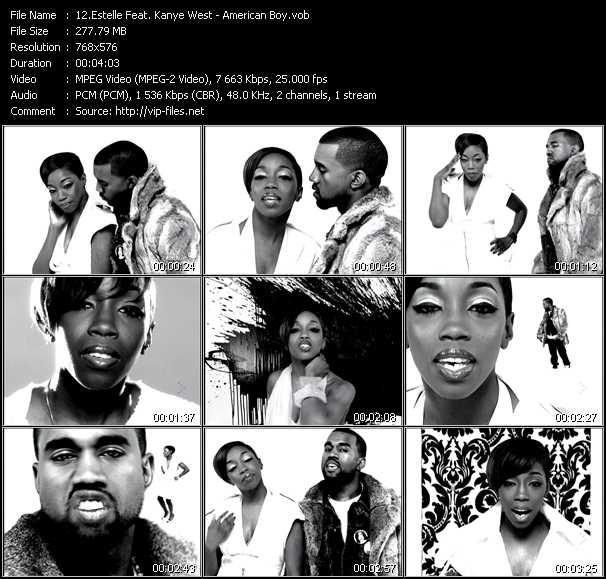 download Estelle Feat. Kanye West « American Boy » video vob