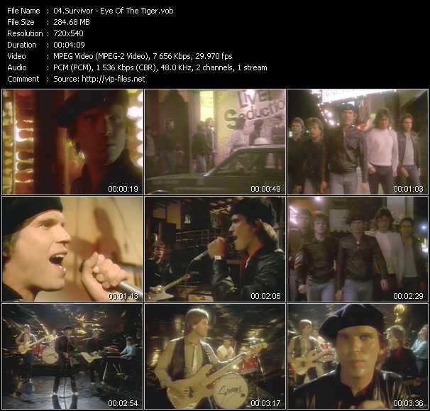 download Survivor « Eye Of The Tiger » video vob