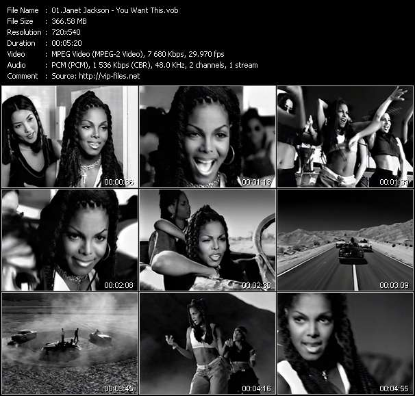 download Janet Jackson « You Want This » video vob
