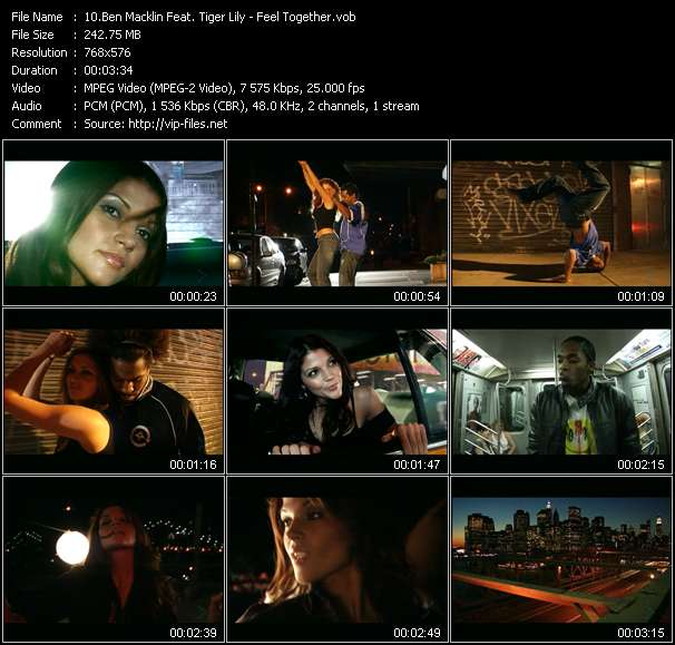 download Ben Macklin Feat. Tiger Lily « Feel Together » video vob