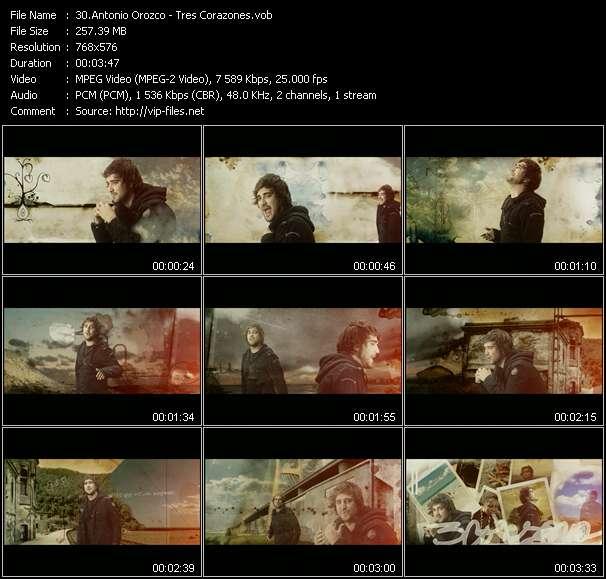 download Antonio Orozco « Tres Corazones » video vob
