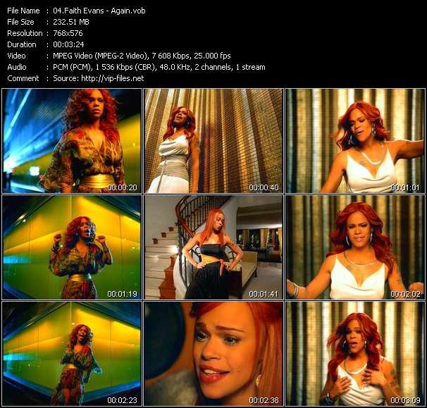 download Faith Evans « Again » video vob