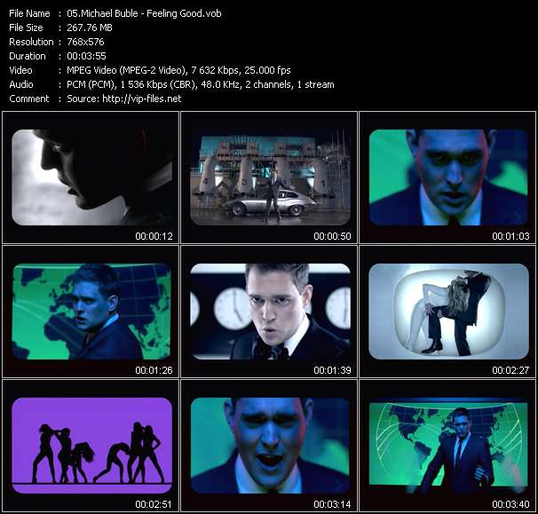 download Michael Buble « Feeling Good » video vob