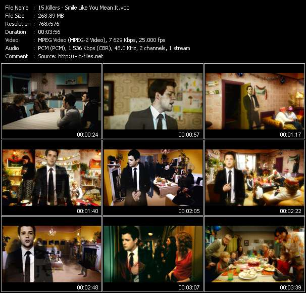 download Killers « Smile Like You Mean It » video vob