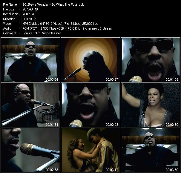 download Stevie Wonder « So What The Fuss » video vob