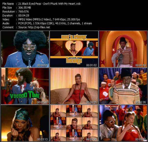 download Black Eyed Peas « Don't Phunk With My Heart » video vob