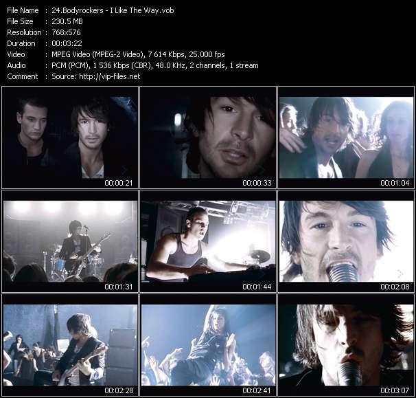download Bodyrockers « I Like The Way » video vob