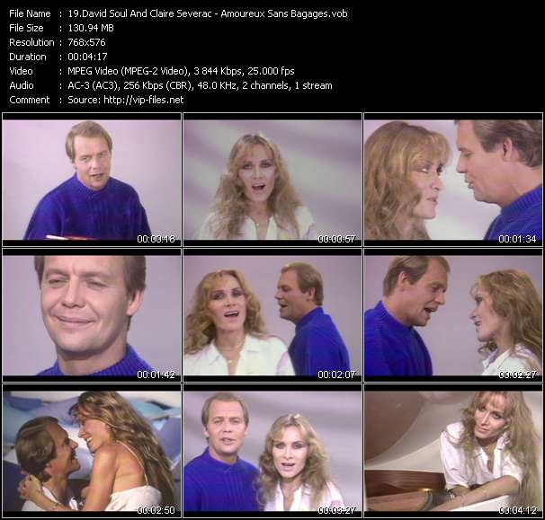 download David Soul And Claire Severac « Amoureux Sans Bagages » video vob