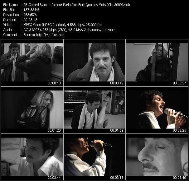 video L'amour Parle Plus Fort Que Les Mots (Clip 2009) screen