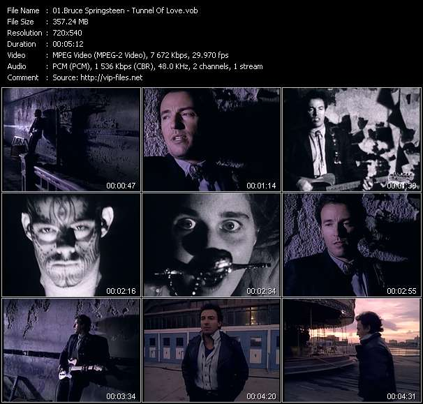 download Bruce Springsteen « Tunnel Of Love » video vob