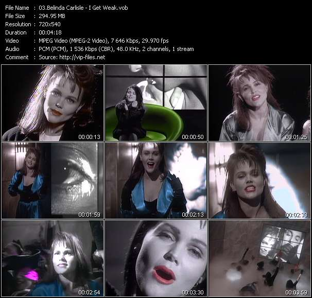 download Belinda Carlisle « I Get Weak » video vob
