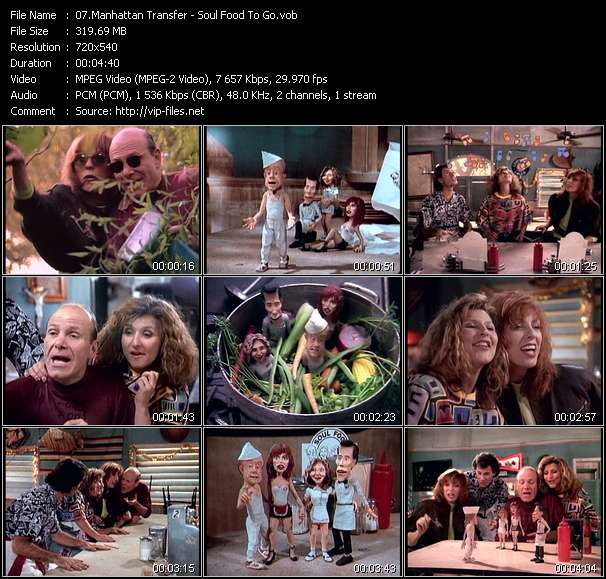 download Manhattan Transfer « Soul Food To Go » video vob