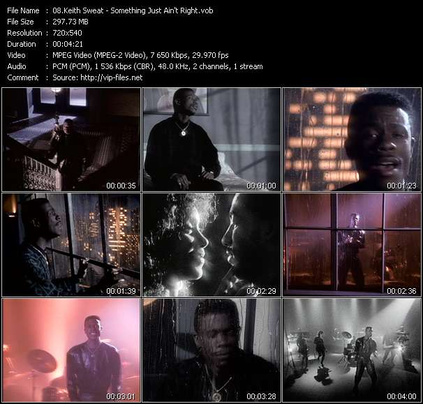 download Keith Sweat « Something Just Ain't Right » video vob