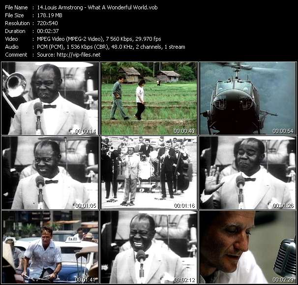 download Louis Armstrong « What A Wonderful World » video vob