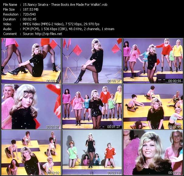 download Nancy Sinatra « These Boots Are Made For Walkin' » video vob