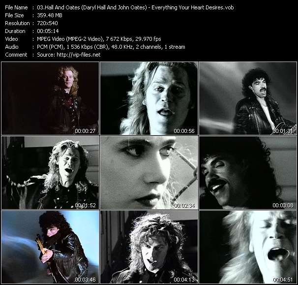 download Hall And Oates (Daryl Hall And John Oates) « Everything Your Heart Desires » video vob