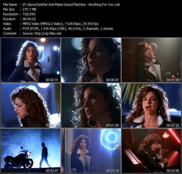 download Gloria Estefan And Miami Sound Machine « Anything For You » video vob