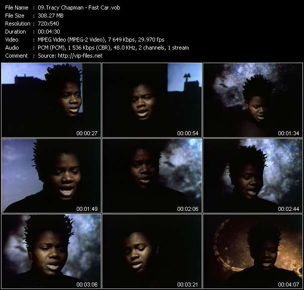 download Tracy Chapman « Fast Car » video vob