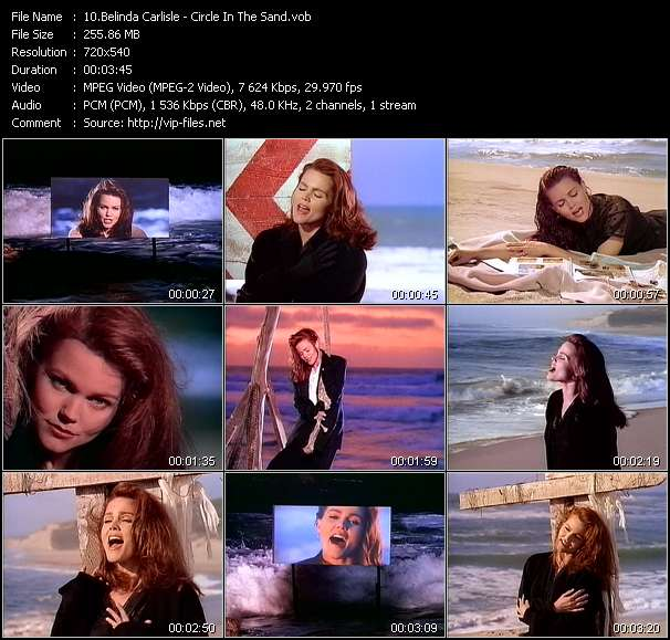 download Belinda Carlisle « Circle In The Sand » video vob